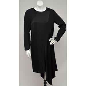 NWT DKNY Black Asymmetric Hem Long Sleeves Dress 4